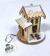 Ginger Cottage Wooden Ornament - Gingerbread Man Grist Mill - Made in th... - $24.49