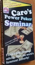 Mike CARO's Power Poker Seminar VHS 1995 - $5.95