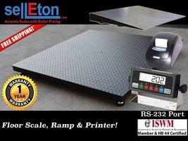 "NEW 48"" x 72"" (4' x 6') Heavy Duty Floor Scale with Ramp & Printer 5000 ... - $1,568.00"