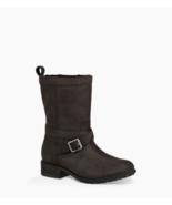 UGG Glendale Women Waterproof Fur Lined Moto Boots Size US 5.5 Black Lea... - $113.94
