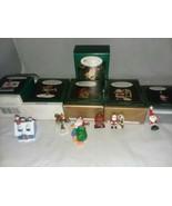 1995-98 Hallmark Keepsake 6 Mini Christmas Ornament Santa Rudolph Helper... - $16.99