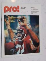 AUG 31 1973 VIKINGS VS DOLPHINS  PRO OFFICIAL PROGRAM - $14.85