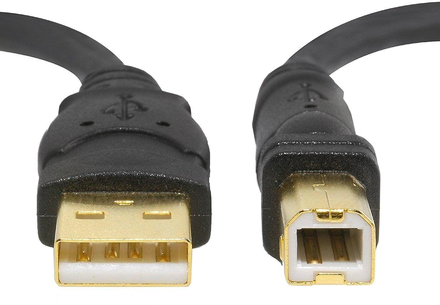 Mediabridge USB 2.0 - A Male To B Male Cable (10 Feet) - High-Speed W/ - Black image 3