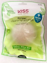 KISS NEW YORK KONJAC CLEANSING SPONGE GENTLE CLEASING EXFOLIANT NATURAL ... - $2.86