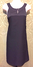 H & M black sleeveless 60's look shift dress with keyhole back size 8 NE... - $16.99