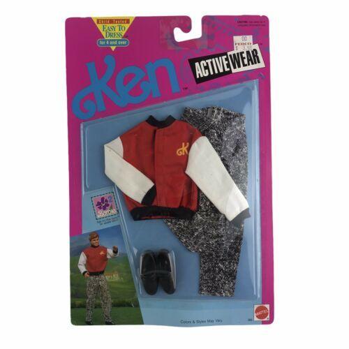Mattel 1991 Ken Sport Active Wear Letterman Jacket Accessories New Clothes - $37.25