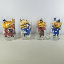 McDonalds Glasses Vintage 4 Different Big Mac Designs Lot of 4 1977  - $45.99