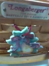 Longaberger Hartville Tour Basket with Plastic Protector - 1996 - Tie-on - $18.35
