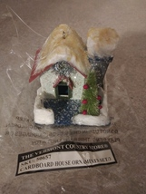 """Cardboard House Ornament 50657 The Vermont Country Store 2.5"""" - $9.99"""