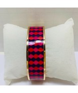"Avon Signature Pink and Blue Goldtone ""Joyful Beautiful"" Bangle Bracelet - $9.50"