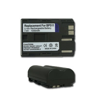 NEW 2 PACK BATTERY 1300 mAh for CANON BP-511 BP-511A BP-512