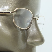 Reading Glasses +1.00 Lens Gold Metal Rectangle Frame Delicate Lightweight - $14.97