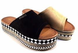 Henry Ferrera TY-A6 Suede Platform Slip On Sandals Choose Sz/Color - €33,27 EUR