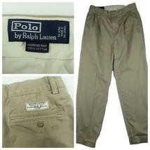 Polo Ralph Lauren Hammond Pants Sz 32 x 32 (Actual 31x31) Beige Pleated Cuffed - $19.96