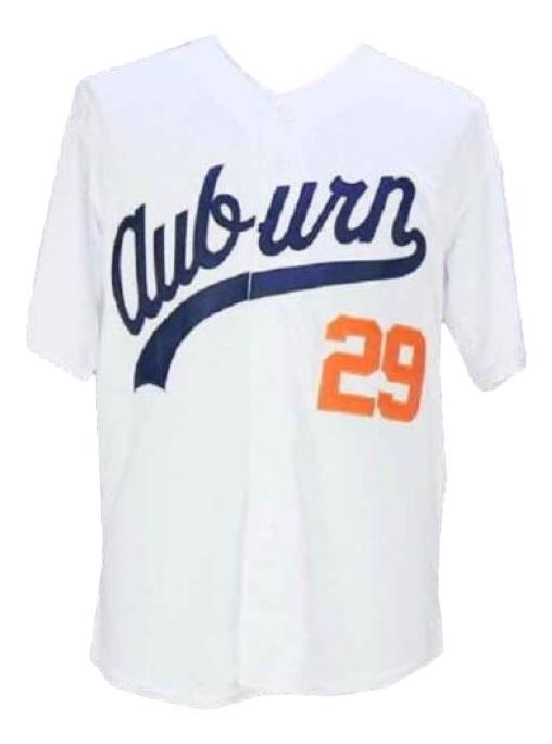 Bo jackson  29 college baseball jersey white   1