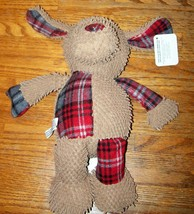 "New Grriggles Polyester Merry Medleys 12"" Dog Brown Tartan Dog Pet Toy S... - $14.84 CAD"