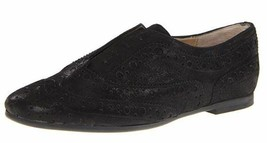 Nine West Size 7 M Vita Black Leather Oxfords Slip Ons New Womens Shoes - $54.75