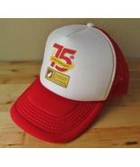 Foster Farms 75th Anniversary Chicken Red & White Mesh Trucker Dad Hat C... - $24.95