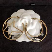 AUTHENTIC Christian Dior 2018 LIMITED EDITION J'ADIOR LARGE HOOP EARRINGS GOLD
