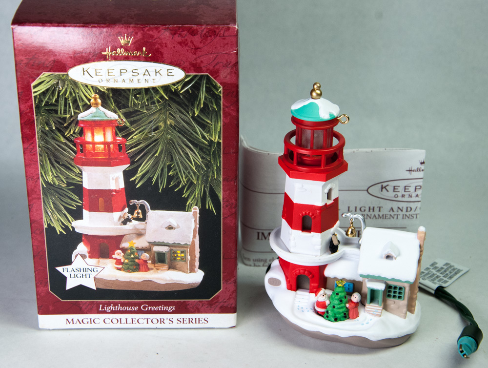 Primary image for Hallmark Keepsake Ornament 1997 Lighthouse Greetings Series #1 Flashing Light