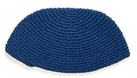 Frik Kippah Navy Blue Crochet Thick Knit Judaism Israel 21 cm image 2
