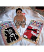 Rascal and Lot of 2 Ty Gear for Beanie Kids Doll Outfit Sets, Skeleton &... - $18.32