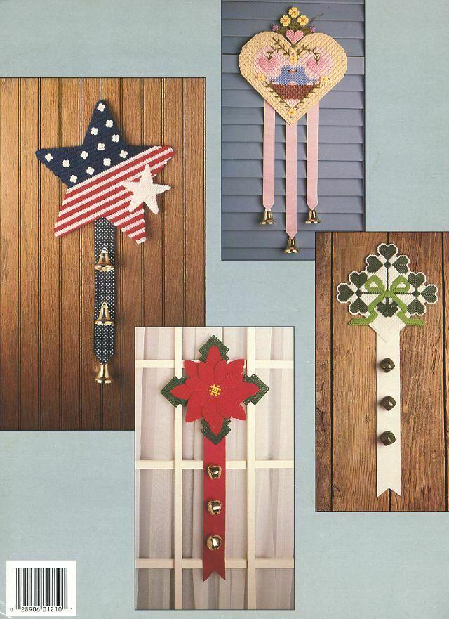 Doorbells Christmas Halloween 8 Designs Plastic Canvas PATTERN/INSTRUCTIONS