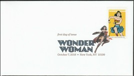 US 5149-5152 Wonder Woman (set of 4) DCP FDC 2016 image 3