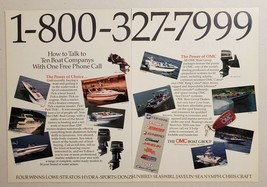 1989 Print Ad The OMC Boat Group Evinrude,Johnson Outboards,10 Boats Cadillac,MI - $9.78