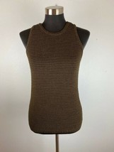 Ralph Lauren Womens Sweater Vest M Medium Brown 100% Mercerized Cotton - $98.99