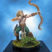 Painted Ral Partha Crucible Miniature Royal Elf Archer - $37.25