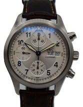 IWC Pilot Flieger Chronograph Men's Automatic 40mm Day Date Watch - $3,163.05