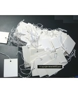 "PRICE TAGS 100 White paper jewelry large label 1 5/8"" x 1 1/4"" 40X30mm PT008 - $4.95"