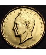 Colombia 20 Pesos, 2004 Gem Unc~Simon Bolivar~Brass~1st Year~Free Shipping - $2.93