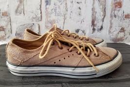 Converse Chuck Taylor Leather Low top Shoe Mens size 7 women 9 beige - $47.98