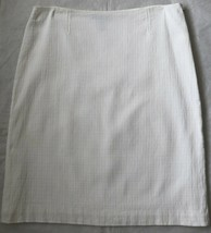 Ann Taylor Cotton Pencil Skirt 10 M White Boucle - $18.98