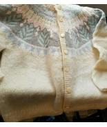 Hand-knit Vintage 1980s Mohair, Angora, Wool Sweater Cardigan - $92.55