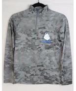 Under Armour youth boys heat gear loose half zip top thirst gray camo si... - $28.26