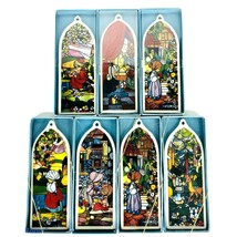 New Precious Moments Stained Glass Windows Set Of 7 Complete Church Beau... - $64.30