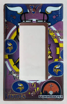 Minnesota Vikings Light Switch Power Outlet Duplex Wall Cover Plate Home Decor image 4
