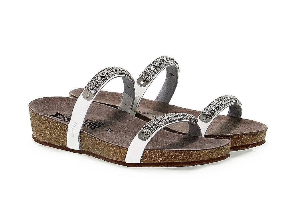 Sandalia plana MEPHISTO IVANA de charol bianco - Zapatos Mujer