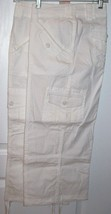 NEW Cropped Pants by dressbarn~14~Cream/White~Adj Tie Bottoms~Very Detai... - $34.99