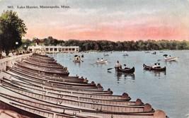 Boating Lake Harriet Minneapolis Minnesota 1910c postcard - $6.93