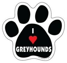 """I Heart GREYHOUNDS DOG PAW PRINT Fridge Car Magnet 5""""x5"""" Large Size FREE... - $5.89"""