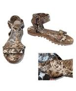 "AGL Attilio Giusti Leombruni Python Snake Rubber Sole Sandals 36.5"" - $225.00"
