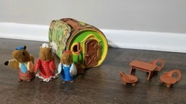 Vintage 1979 Fisher Price The Woodsey's Log Squirrel Family House #960 W... - $42.06