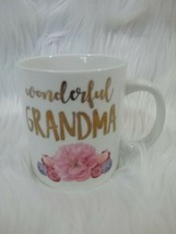 Coffee / Tea, Wonderful Grandma mug Pink Flowers Modern Expressions - £4.54 GBP