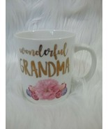 Coffee / Tea, Wonderful Grandma mug Pink Flowers Modern Expressions - £4.43 GBP