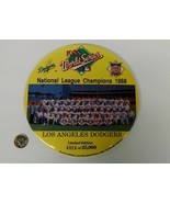 LARGE LOS ANGELES DODGERS 1988 NATIONAL LEAGUE CHAMPIONS LIMITED EDITION... - $44.70