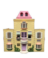 Fisher Price Loving Family Folding Grand Mansion Twin Time DollHouse Pla... - $123.74